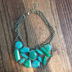 Silpada Green/gold stone necklace